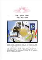 Suisse _ Carte Des J. O. De St Moritz _ Timbres N° 452 Et 1198 (Y & T) - Winter 1948: St. Moritz
