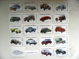 Matchbox Labels From USSR, 18 Different #1 Cars Auto Transport Gaz Russo Balt Lessner - Matchbox Labels
