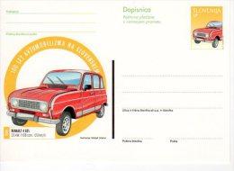SLOVENIA 1998 (35 T.}  Renault 4GL Postal Stationery Card, Unused.  Michel P63 - Slovenia