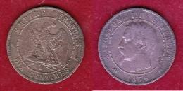 France - 10 Centimes Napoléon III 1856 - K - France