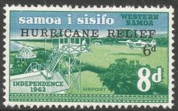 Samoa. 1966 Hurricane Relief Fund. 8d + 6d MH - Samoa