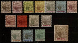 MAURITIUS 1900 - 1905 VALUES TO 1R BETWEEN SG 138 AND SG 153 MAINLY LIGHTLY MOUNTED MINT  Cat £250+ - Mauritius (...-1967)