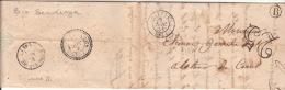 """PYRENEES ORIENTALE - Cad T15 OLETTE + Boite Rurale """" B """" = SERDINYA Pour LA TOUR DE CAROL. - Marcophilie (Lettres)"""