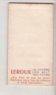 CARNET PUBLICITAIRE CHICOREE LEROUX - Werbung