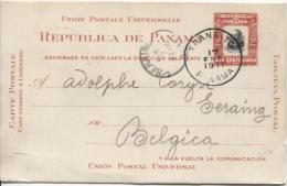 Entier Panama Tarejeta Postal Transito 1911 V.Seraing C.d'arrivée 7/2/1911 AP539 - Panama