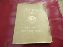 """""""50 Jahre ADAC"""" Im Dienste Der Kraftfahrt - Bücher, Zeitschriften, Comics"""