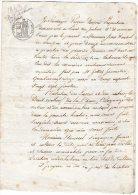 VP905 - PARIS X VILLEVAUDE 1843 - Acte Bail De Terre Et Chasse Mrs DUPRE X ROUSSEL - Manuscripts