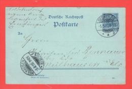 GEBWEILER GUEBWILLER 5.5.1900 Pour Mulhouse   Sur Entier - Poststempel (Briefe)