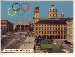 MÜNCHEN - MUNICH - MONACO D. B - Olympiastadt, Odeonsplatz Mit Feldherrnhalle Und Theatinerkirche, 1971 - Muenchen
