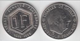 PEU COURANTE **** 1 FRANC 1988 DE GAULLE VARIANTE SANS LES DIFFERENTS **** EN ACHAT IMMEDIAT !!! - H. 1 Franc