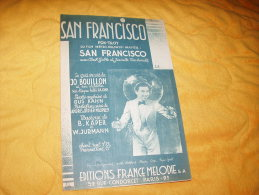 PARTITION ANCIENNE DATE 1936. /  SAN FRANSCICO FOX-TROT DU FILM METRO GOLDWYN MAYER. / EDITIONS FRANCE MELODIE. - Partitions Musicales Anciennes