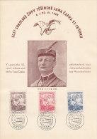 Czechoslovakia, Commemorative Letter, Paper, Cover, Stamp, Sheet. Slet Sokolske Zupy Tesinske Jana Capka. (B05056) - Tchécoslovaquie