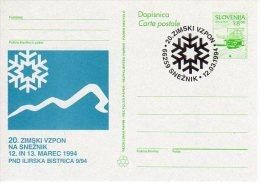 SLOVENIA 1993 8.00 T.  Commemorative Postal Stationery Card, Cancelled.  As Michel P6a - Slovenia