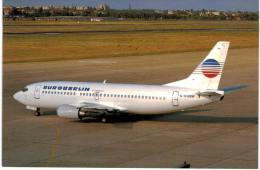 Thème -  Avion  Civil Aircraft Postcards N°166 - Boeing 737 2T5 Euroberlin France G-DHSW Cn 22979/950 - 1946-....: Moderne