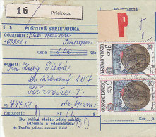 Czechoslovakia Cover, Postcard. Two Parcel Cards. Priekopa, Vysny Kubin.  (B03118) - Covers