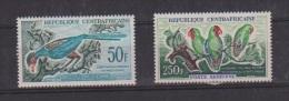 CENTRAFRIQUE //  Poste Aérienne // N 7 Et 8  //  NEUFS ** //  Oiseaux - Central African Republic