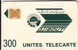 DJIBOUTI - Telecom Logo, First Issue 300 Units, CN : 8720, Tirage %32000, Used - Dschibuti