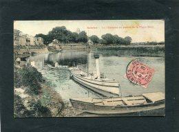 SAINTES    1906  BARQUE A VAPEUR  SUR LES QUAIS PLACE BLAIR CIRC   OUI   / EDIT - Saintes