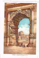 I1427 Roma - Il Colosseo Dall'Arco Di Tito - Disegno Di T. Naldi / Non Viaggiata - Colosseum