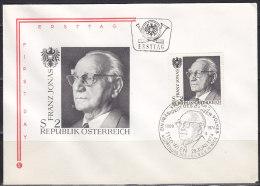 2904. Austria, 1974, Franz Jonas, FDC - FDC