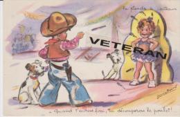 AUTHENTIQUE CPA  ANNEES 1950 GERMAINE BOURET LA  PLANCHE  A  COUTEAUX - Bouret, Germaine