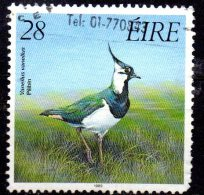 IRELAND 1989 Game Birds - 28p. - Northern Lapwing  FU - 1949-... Republic Of Ireland