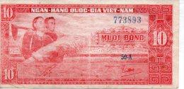 Billet De Banque VIET-NAM 10 Dong 1963 - Vietnam