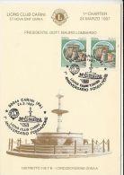 LIONS CLUB, CARINI FOUNTAIN, CM, MAXICARD, CARTES MAXIMUM, 1997, ITALY - Rotary, Lions Club