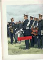 AERONAUTIQUE DRAPEAU BASE AERIENNE AVIATION TENUE 1935 CLAIRON MAJOR TAMBOUR GRAVURE DE MAURICE TOUSSAINT - Uniforms