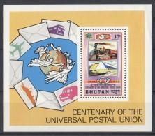 Bhutan - 1974 UPU Block MNH__(TH-443) - Bhoutan