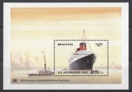 Bhutan - 1989 Maritime Organization Block (9) MNH__(TH-3) - Bhutan