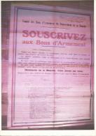 """Guerre 1939/45 Dépt De La Manche """"souscrivez Aux Bons D´armement"""" Affiche Format 54x76 - Documents Historiques"""
