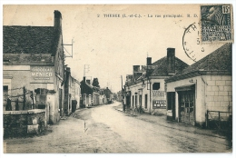 Cpa: 41 THESEE (ar. Blois) La Rue Principale (Tabac, Pompe Essence Azur Pp) 1931 N° 2 - Autres Communes