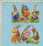 Découpis   Gaufré Religieux ( 6 Lapin De Paques ) - Easter