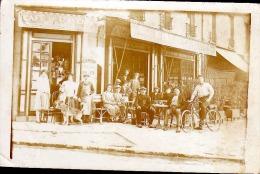 CAFE DE L AVENIR CHEZ LUTZ  BIERE DE LA MEUSE   CP PHOTO