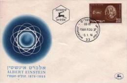 ISRAEL EINSTEIN (Yvert N°110) FDC 1er Jour. - Albert Einstein