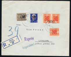 Italy Lubiana Occupazoine, German Occ. Registered Cover Horjul To Ljublanna, Expres Mixed Stamps