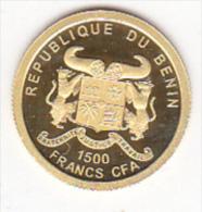 REPUBLIQUE DU BENIN . 1500 FRANCS CFA 2010 .CHARLES DE GAULLE . OR -GOLD . - Benin
