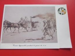 MILITARIA Carte Militaire Illustration Cuisine Hippomobile Pendant La Guerre 14 -18 Voir écusson Pour Déterminer L'arme - Libri, Riviste & Cataloghi
