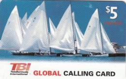 BERMUDA ISL. - Sailing, TeleBermuda Prepaid Card $5, Used - Bermuda