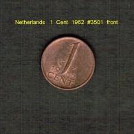 NETHERLANDS    1  CENT   1962  (KM # 180) - [ 3] 1815-… : Kingdom Of The Netherlands