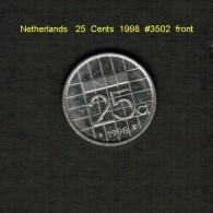 NETHERLANDS    25  CENTS   1998  (KM # 204) - [ 3] 1815-… : Kingdom Of The Netherlands