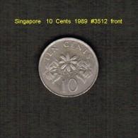 SINGAPORE    10  CENTS  1989  (KM # 51) - Singapore