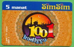 Azerbaijan GSM Prepaid - Azercell SIMSIM 5 Manat /Used, But Like UNC /