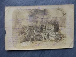 "Guerre 14-18 Frontignan, Mitrailleuses, ""80"" 25 è Compagnie CP Photo (état)  ; Ref 193 - War 1914-18"