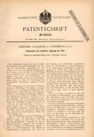 Original Patentschrift - Gebr. Galczinski In Ronneburg , 1894 , Feilmaschine , Metallbau , Feile , Thüringen !!! - Maschinen
