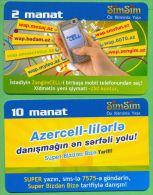 Azerbaijan GSM Prepaid - Azercell SIMSIM 2 10 Manat /Used, But Like UNC /