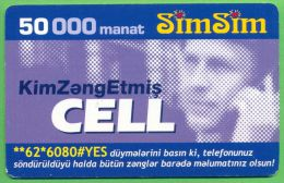 Azerbaijan GSM Prepaid - Azercell SIMSIM 50000 Manat /Used, But Like UNC /