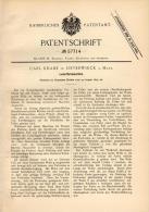 Original Patentschrift - Carl Knabe In Osterwieck A. Harz , 1890 , Leder - Färbmaschine , Färberei , Fell !!! - Maschinen