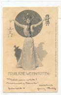 Art Nouveu Secession Style Postcard Pinocchio Christmas - Saluti Da.../ Gruss Aus...